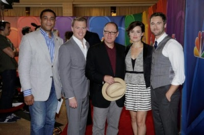 Harry Lenix, Diego Klattenhoff, James Spader, Megan Boone et Ryan Eggold