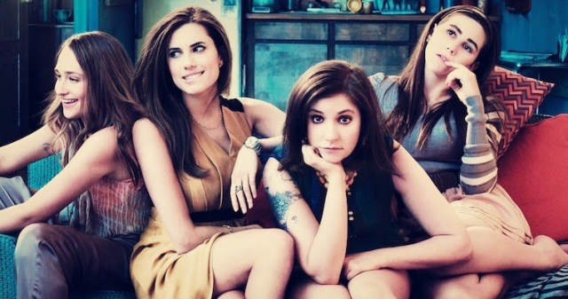 Girls-Jemima Kirke, Allison Williams, Lena Dunham et Zosia Mamet