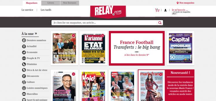 Abonnement magazine, magazine pdf, livre numérique - Relay.com