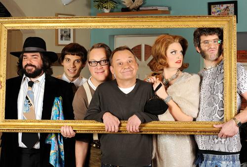 Matt Berry, Daniel Simonsen, Vic Reeves, Bob Mortimer, Morgana Robinson et Dan Skinner