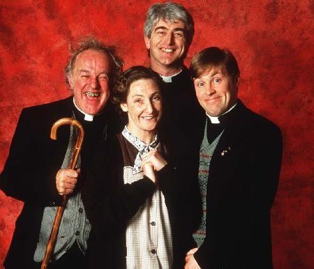 Father Ted - Frank Kelly, Pauline McLynn, Dermot Morgan et Ardal O'Hanlon