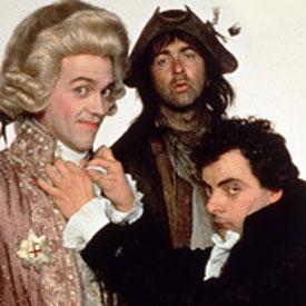 Blackadder : Hugh Laurie, Tony Robinson et Rowan Atkinson
