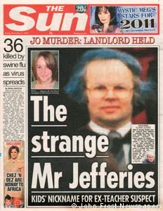 The Sun headline - Christopher Jefferies